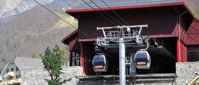 gare pour domaine skiable hiver et rando l'été